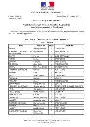 Election chambre d'agriculture 2013.pdf - Préfecture de région ...