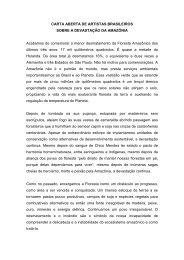 Carta Amazônia - Academia Brasileira de Letras