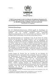 Anmerkungen zum Vorschlag für eine Richtlinie über ... - UNHCR