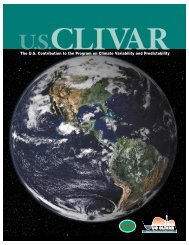 The U.S. Contribution to the Program on Climate ... - US CLIVAR