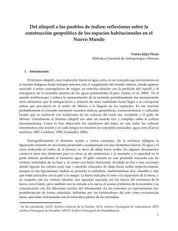 reflexiones sobre la construcción geopolítica de los espacios ...