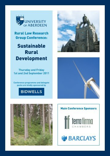 Sustainable Rural Development - Terra Firma Chambers