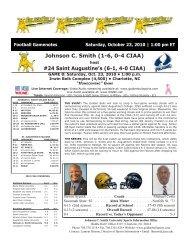 24 Saint Augustine's - Johnson C. Smith University Athletics