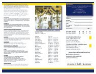 Camp Information - Johnson C. Smith University Athletics