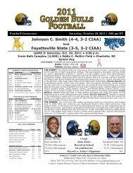 Fayetteville State - Johnson C. Smith University Athletics