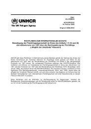 Richtlinien zum internationalen Schutz: Beendigung der ... - UNHCR