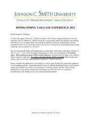 HOMECOMING TAILGATE EXPERIENCE 2012 - Johnson C. Smith ...