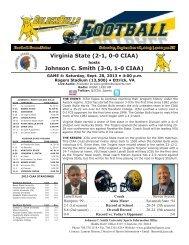 Virginia State - Johnson C. Smith University Athletics