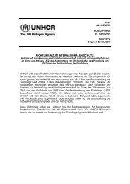 Richtlinien zum internationalen Schutz, Nr. 6 - UNHCR