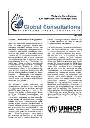 Weltweite Konsultationen zum internationalen ... - UNHCR