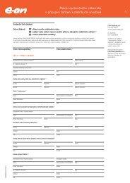Žádost oprávněného zákazníka o připojení zařízení k ... - Czech Coal