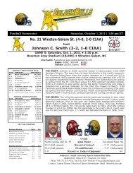 Complete Game notes - Johnson C. Smith University Athletics