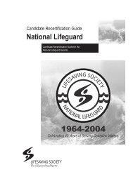 National Lifeguard 1964-2004 - Lifesaving Society