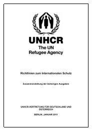Richtlinien zum Internationalen Schutz, Nr. 1-8 - UNHCR