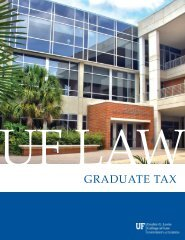 Graduate Tax Program - Levin College of Law - University of Florida