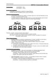 SWITCH : Commutation Ethernet