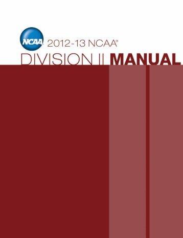 NCAA Division II Manual - Johnson C. Smith University Athletics