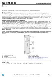 HP D2200sb Storage Blade - eD' system Czech, as