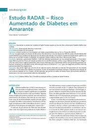 Estudo RADAR – Risco Aumentado de Diabetes em Amarante