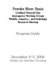 Powder River Basin Powder River Basin Program ... - Wyoming BLM