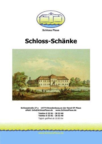 Schloss-Schänke - Schloss Plaue
