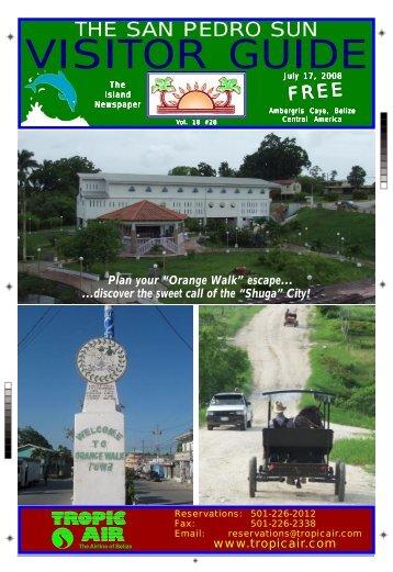 The San Pedro Sun Visitor Guide