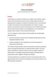 Codice deontologico - ADI