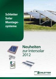 Neuheiten zur Intersolar 2012 - Schletter GmbH