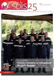 Première formation au management des chefs de centre - SDIS 25