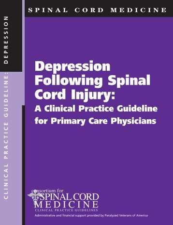 Depression Following Spinal Cord Injury: