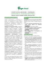 Desempenho de Sistemas Elétricos Relatório Anual ... - Cigré-Brasil