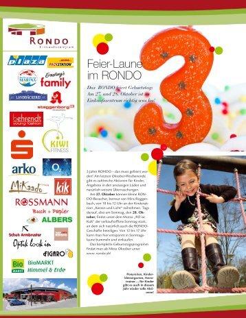 Feier-Laune im RONDO - Rondo Einkaufszentrum