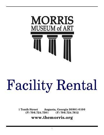 Facility Rental Packet - Morris Museum of Art