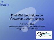 Fikri Mülkiyet Hakları ve Üniversite Sanayi İşbirliği - YASED ...