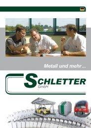 Metall und mehr ... - Schletter GmbH