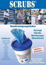 Reinigt Hände, Werkzeuge, Maschinen Handreinigungstücher