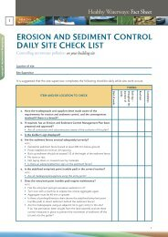 Fact Sheet 1 Erosion and Sediment Control Daily ... - Water by Design