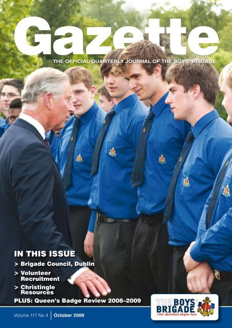 In This Issue The Boys Brigade