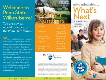 What's Next? brochure - Penn State Wilkes-Barre