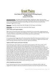 January 2011 - Great Plains Landscape Conservation Cooperative
