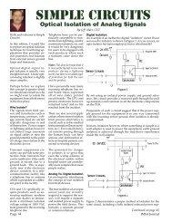 Simple Circuits - Optical Isolation of Analog Signals - IMSA