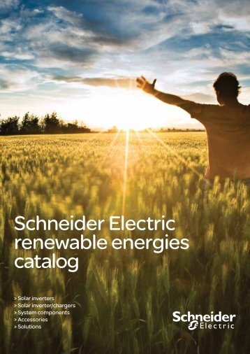 PV Catalogue : Schneider Electric renewable energies catalog