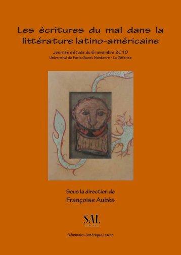 Les écritures du mal dans la littérature latino-américaine - Centre de ...