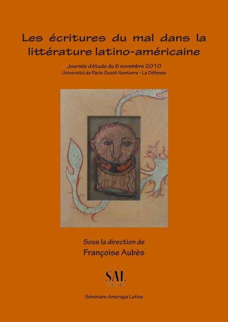 Les ãcritures Du Mal Dans La Littãrature Latino Amã