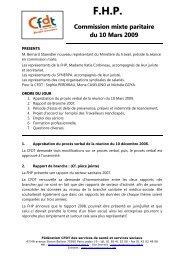 F.H.P. - CFDT Santé Sociaux
