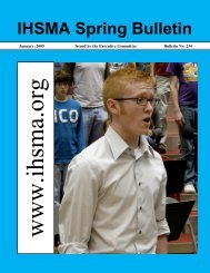Spring Bulletin No. 234 - January 2009 - Iowa High School Music ...