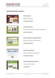 REFERENZEN WEBDESIGN (AUSWAHL): - MEDIARTS