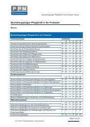 Beurteilungsbogen Pflegekraft in der Probezeit