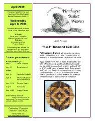 April 2009 Wednesday April 8, 2009 - Northwest Basket Weavers