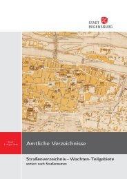 Straßenverzeichnis-Wachten-Teilgebiete sortiert nach Straßennamen
